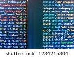 software source code.... | Shutterstock . vector #1234215304