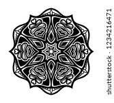 mandala for coloring book.round ... | Shutterstock .eps vector #1234216471