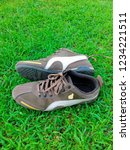 sports shoes on the green lawn | Shutterstock . vector #1234221511