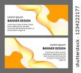 abstract modern banner... | Shutterstock . vector #1234222177