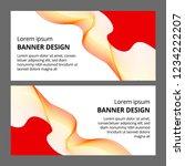 abstract modern banner... | Shutterstock . vector #1234222207