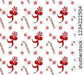 christmas seamless pattern with ...   Shutterstock .eps vector #1234222504
