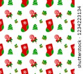 christmas seamless pattern with ...   Shutterstock .eps vector #1234223134