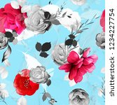 seamless floral background... | Shutterstock .eps vector #1234227754