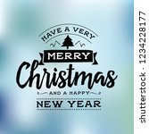 merry christmas. typography.... | Shutterstock .eps vector #1234228177