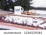 cup of tea or coffee with good... | Shutterstock . vector #1234229281