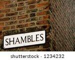 shambles street sign  a famous...
