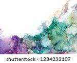 alcohol ink sea texture. fluid... | Shutterstock . vector #1234232107