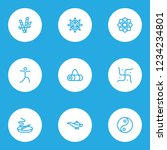 yoga icons line style set with... | Shutterstock .eps vector #1234234801