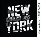 new york  sliced sport slogan . ... | Shutterstock .eps vector #1234236094