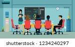 employees are describing a... | Shutterstock .eps vector #1234240297