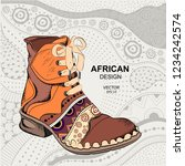 hipster youth shoes. ethnic... | Shutterstock .eps vector #1234242574