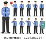 police people concept. detailed ... | Shutterstock .eps vector #1234251394