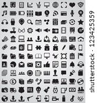 collection web icons for design ... | Shutterstock .eps vector #123425359