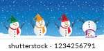 hello winter blue winter... | Shutterstock .eps vector #1234256791