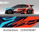 vehicle graphic livery design...   Shutterstock .eps vector #1234258387