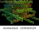 3d rendering. cgi typography...   Shutterstock . vector #1234263124