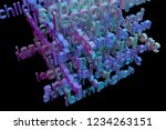 3d rendering. cgi typography...   Shutterstock . vector #1234263151