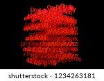cgi typography with dark...   Shutterstock . vector #1234263181