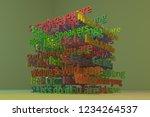 abstract keywords cloud...   Shutterstock . vector #1234264537