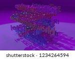 3d rendering. cgi typography ...   Shutterstock . vector #1234264594