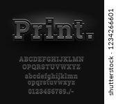 3d font alphabet. chopped type  ... | Shutterstock .eps vector #1234266601
