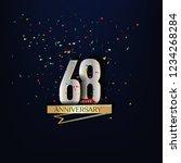 68 years anniversary and... | Shutterstock .eps vector #1234268284