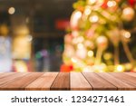 empty wooden table on a... | Shutterstock . vector #1234271461