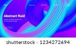 neon fluid shape. landing page... | Shutterstock .eps vector #1234272694