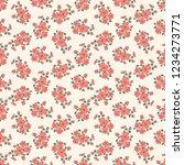 seamless vector ornamental... | Shutterstock .eps vector #1234273771