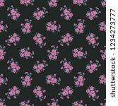 seamless vector ornamental... | Shutterstock .eps vector #1234273777