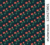 seamless vector ornamental... | Shutterstock .eps vector #1234273801