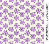 seamless vector ornamental... | Shutterstock .eps vector #1234273804