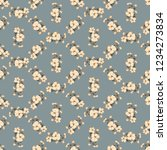seamless vector ornamental... | Shutterstock .eps vector #1234273834