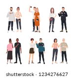 collection of cute romantic... | Shutterstock .eps vector #1234276627