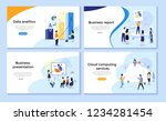 set of web page design... | Shutterstock .eps vector #1234281454