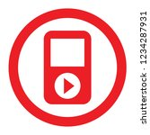 red icon mp3 player with a... | Shutterstock .eps vector #1234287931