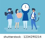 characters of people holding... | Shutterstock .eps vector #1234290214