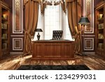 classic style director's office.... | Shutterstock . vector #1234299031