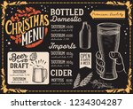 christmas menu template for... | Shutterstock .eps vector #1234304287