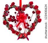 A Heart Shaped Twig Wreath Is...