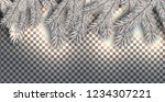 christmas background with white ... | Shutterstock .eps vector #1234307221