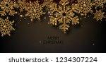 merry christmas  greeting... | Shutterstock .eps vector #1234307224