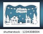 christmas vector background... | Shutterstock .eps vector #1234308004