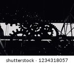 machinery shadow in factory.... | Shutterstock . vector #1234318057