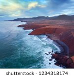 aerial view on legzira beach... | Shutterstock . vector #1234318174