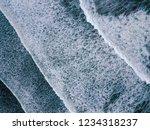 aerial top view on ocean waves... | Shutterstock . vector #1234318237