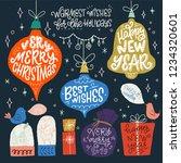 set of christmas hand drawn... | Shutterstock .eps vector #1234320601