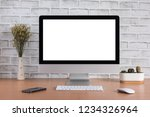 blank screen of all in one... | Shutterstock . vector #1234326964