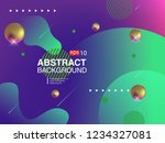 colorful geometric background.... | Shutterstock .eps vector #1234327081